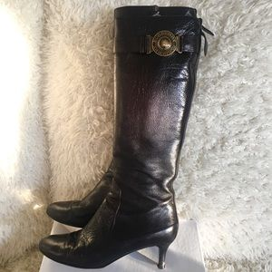 BURBERRY Leather Brown Knee High Boots
